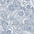 Ibiza flowers blauw tapet Esta home Cabana 140-148-615