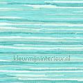 Geweven katoen kleed turquoise tapet Esta home Cabana 140-148-621