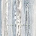 Houtnerf behang grijsblauw tapet Esta home Cabana 140-148-626