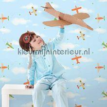 Vliegtuigen in de lucht behang Dutch Wallcoverings Baby Peuter