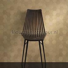 Honigraat houtlook bruin papier peint Carlucci di Chivasso Casa Carlucci ca8255-071