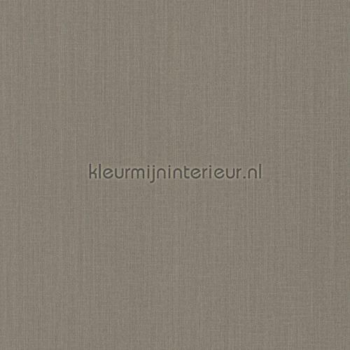 Uni textiel vergrijsd bruin behang 077123 Cassata Rasch
