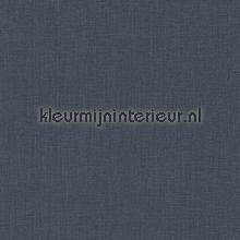Uni textiel blauwig antraciet papier peint Rasch Cassata 077185