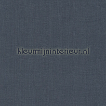 Uni textiel blauwig antraciet behang Rasch Cassata 077185