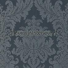 Textiele damask grijsblauw behang Rasch Cassata 077222