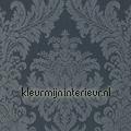 Textiele damask grijsblauw  rasch