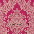 Textiele damask fuchsia roze Cassata rasch