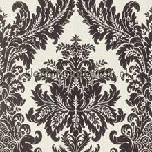 Textiele damask wit-zwart behang Rasch Cassata 077253