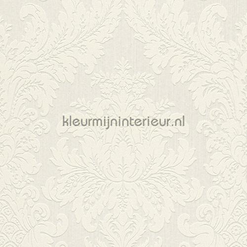 Textiele damask wit behang 077277 Cassata Rasch
