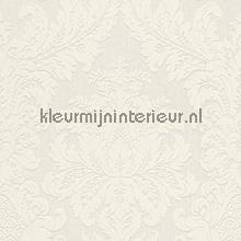 Textiele damask wit behang Rasch Cassata 077277