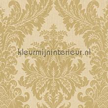 Textiele damask zand behang 077284 Cassata Rasch