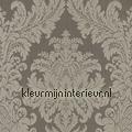 Textiele damask vergrijsd bruin Cassata rasch