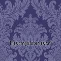 Textiele damask kobaltblauw Cassata rasch