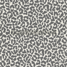 Panterprint op textiel antraciet-wit behang Rasch Cassata 077390