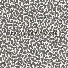 Panterprint op textiel antraciet-wit papier peint Rasch Cassata 077390