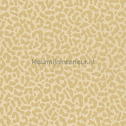 Panterprint op textiel zandbeige behang 077437 Cassata Rasch