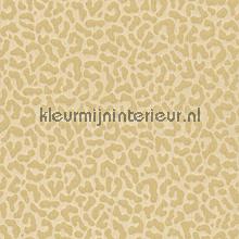 Panterprint op textiel zandbeige papier peint Rasch Cassata 077437