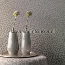 Panterprint op textiel vergrijsd bruin behang Rasch Cassata 077444