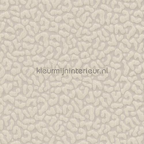 Panterprint op textiel licht grijs beige behang 077468 Cassata Rasch