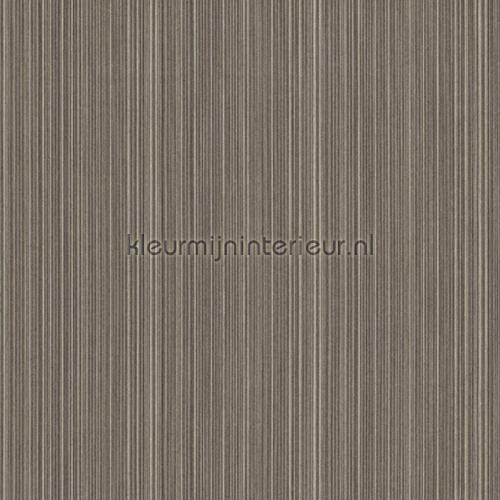 Ragfijne strepen op textiel grijsbruin behang 077499 Cassata Rasch