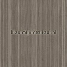 Ragfijne strepen op textiel grijsbruin behang Rasch Cassata 077499