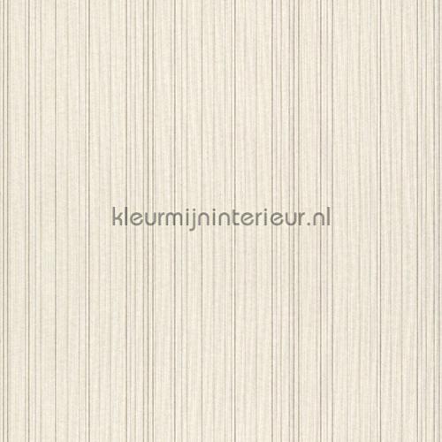 Ragfijne strepen op textiel ecru mix behang 077505 Cassata Rasch