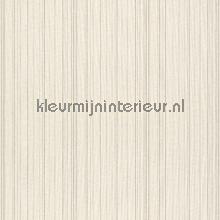 Ragfijne strepen op textiel ecru mix behang Rasch Cassata 077505