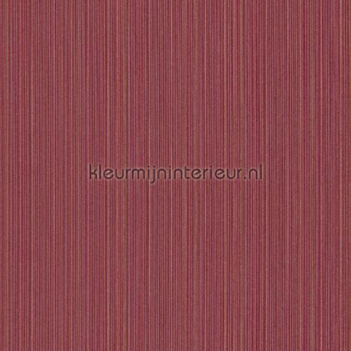 Ragfijne strepen op textiel donkerrood behang 077512 Cassata Rasch