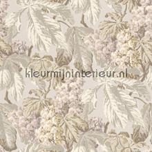 Bloemen lijmdruk beige behang Rasch Cassata 256504