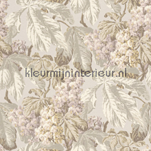 Bloemen lijmdruk beige papier peint Rasch Cassata 256504