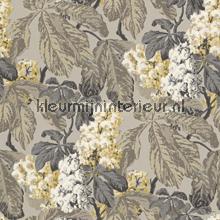 Bloemen lijmdruk grijsbeige papier peint Rasch Cassata 256511