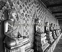 Bangkok - black & white fotobehang Dutch Wallcoverings zwart wit