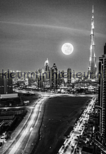 Dubai - black & white fotomurales Dutch Wallcoverings City Love CL60B