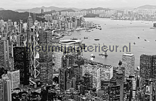 Hong Kong - black & white fotomurales Dutch Wallcoverings City Love CL91B