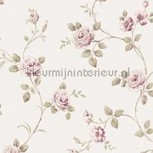 Zware vinyl romantische bloem wallcovering Noordwand Classic V 3044