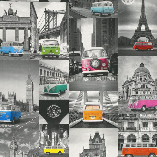 World of VW behang 42509-10 auto - transport Dutch Wallcoverings
