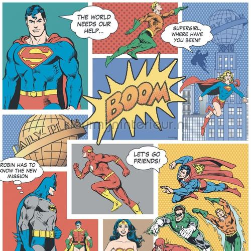 Superman strip  full color tapeten 9002-1 COMICS and more Rasch