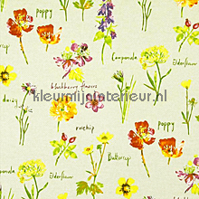 WILD FLOWERS Linen gordijnen Prestigious Textiles romantisch