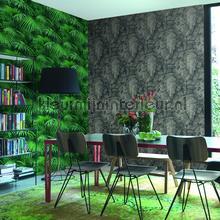 Groene planten behang Rasch fantasie