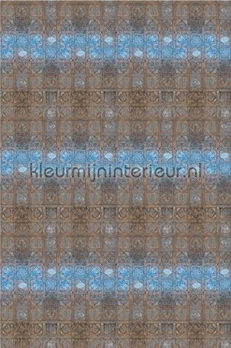 Muurtegels - bruin/blauw fotomurales CC_MLE_10242 Curious Collections