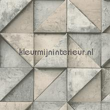 3d betonmuur blokeffect beige behang AS Creation Modern Abstract