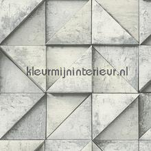 3d betonmuur blokeffect lichtgrijs behang AS Creation Modern Abstract