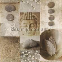 Boeddhistische impressie behang Rasch Deco Relief 306330