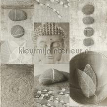 Boeddhistische impressie behang Rasch Deco Relief 306347
