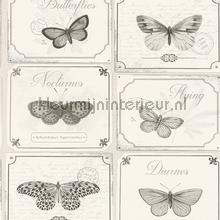 Bordjes met vlinders behang Rasch Deco Relief 306514