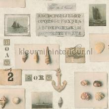 Maritieme verzameling behang Rasch Deco Relief 306606