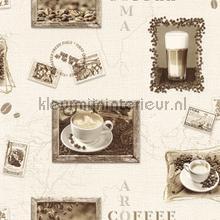 Koffie aroma behang Rasch Deco Relief 855104