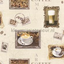 Koffie aroma behang Rasch Deco Relief 855111