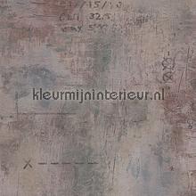 Verweerd metaal met opschrift behang AS Creation behang