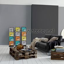 Uni koel grijs stevig glad vlies behang  309549 behang Top 15 AS Creation